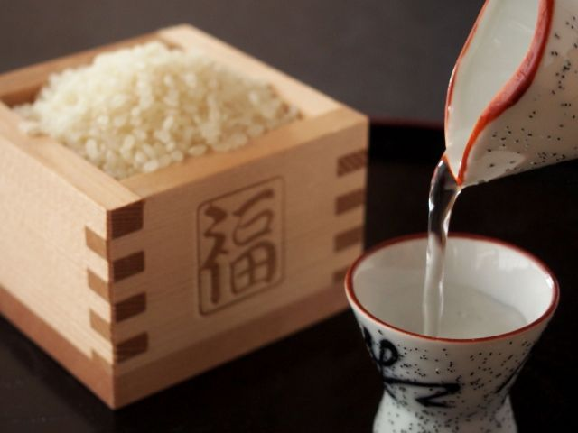 お米から作られた日本酒